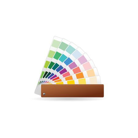 book: Color swatches icon in color. Printing publishing book Illustration