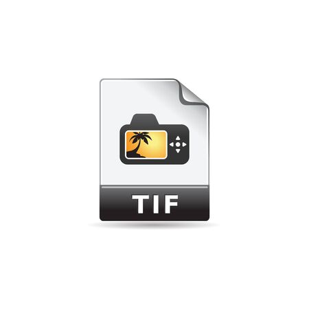 photo: TIF file format icon in color. Image photo file