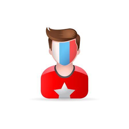 world championships: Football fans avatar icon in color. Sport spectator fans Illustration