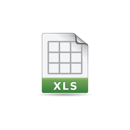 Spreadsheet file icon in color. Office report finance