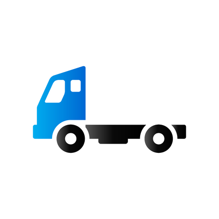 Empty container lift truck icon in duo tone color. Industry logistic distribution Illustration