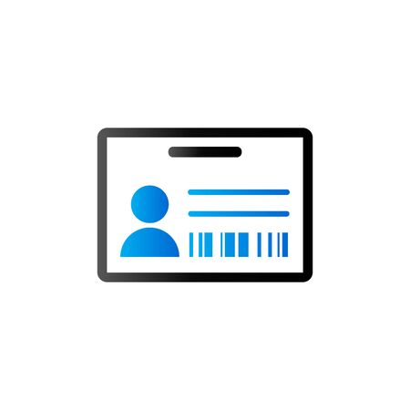 photo: ID Card icon in duo tone color. Identity office businessman Illustration
