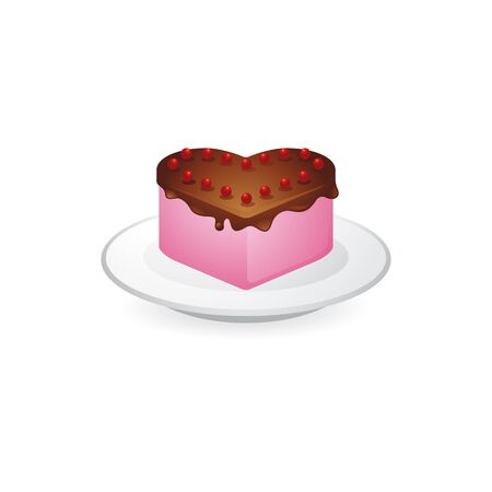 biscuits: Cake icon in color. Food sweet delicious Illustration