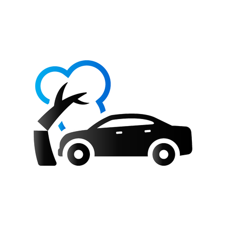 Car crash icon in duo tone color. Automotive accident incident