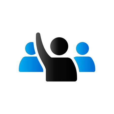 People raise hand icon in duo tone color. Business finance buying