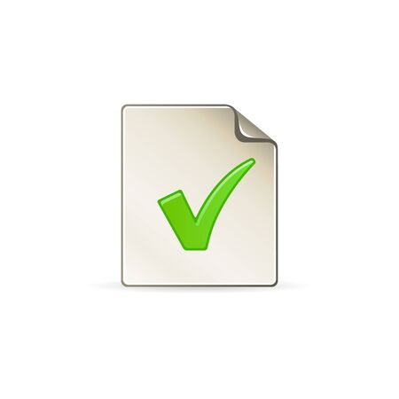 business meeting: Checkmark icon in color. Events organizer reminder