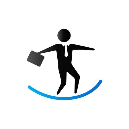 Businessman challenge icon in duo tone color.