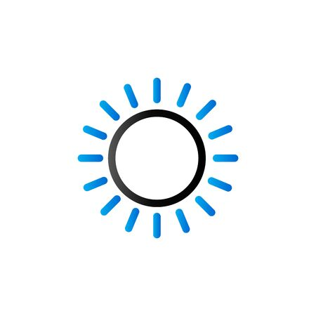 overcast: Weather forecast partly sunny icon in duo tone color. Meteorology overcast