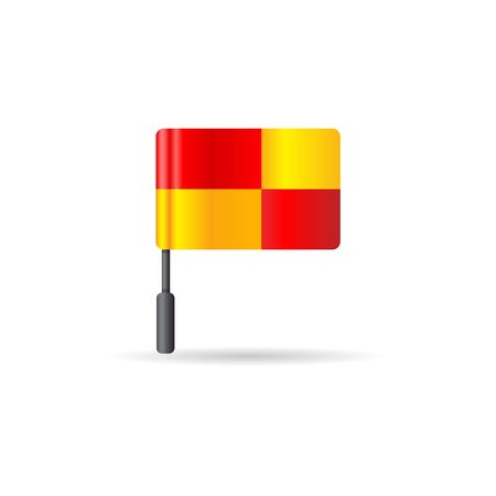 outfield: Lineman flag icon in color. soccer game referee assistant
