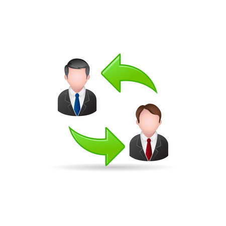 Employee rotation icon in color. Position human resources