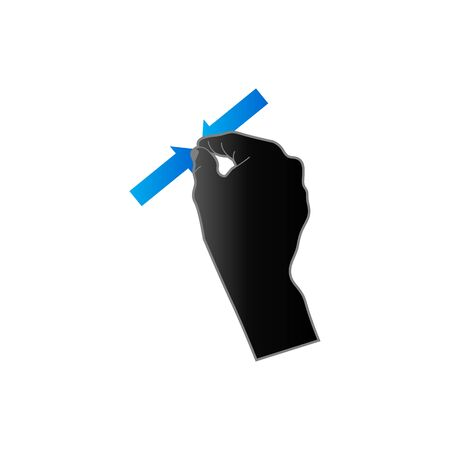 palm: Finger gesture icon in duo tone color. Gadget touch pad smartphone laptop Illustration