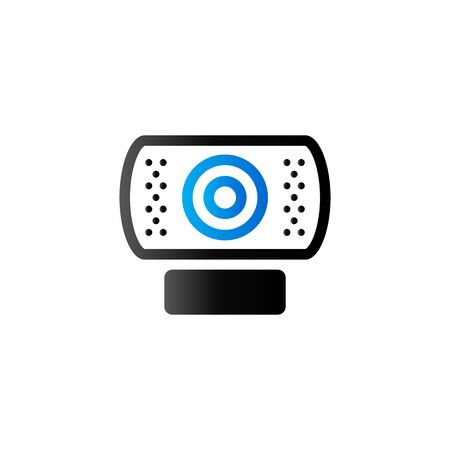home icon: Webcam icon in duo tone color. Computer internet connection Illustration