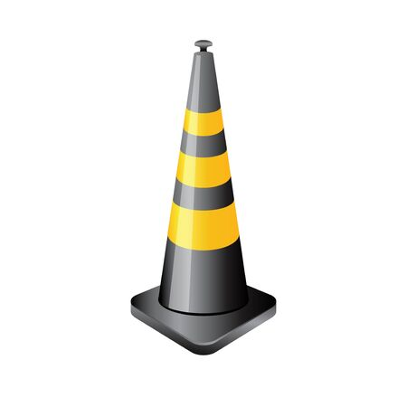 Traffic cone icon in color. Road construction warning