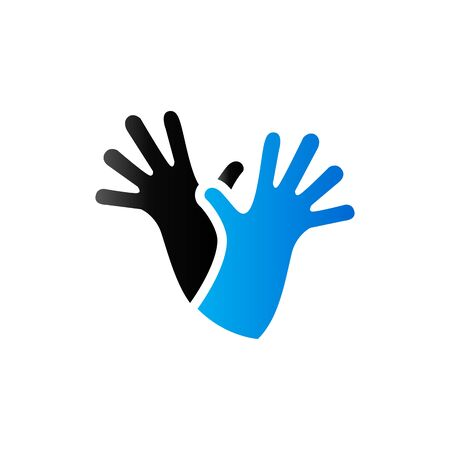 Cleaning glove icon in duo tone color. Equipment rubber household