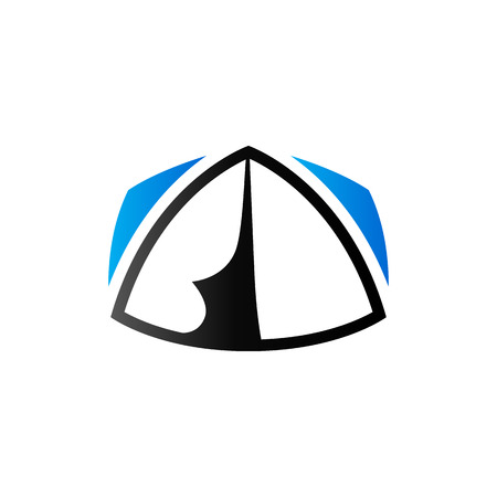 hiking: Camping tent icon in duo tone color. Shelter vacation travel Illustration