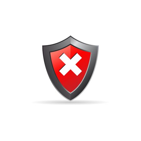 royal: Shield icon in color. Protection computer antivirus Illustration