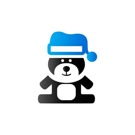 acquaintance: Teddy bear icon in duo tone color. Christmas celebration gift Illustration