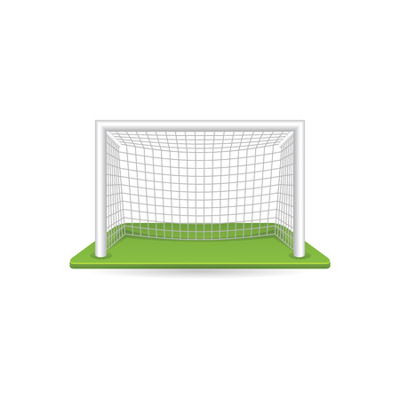 sign post: Football goal post icon in color. Sport ball soccer