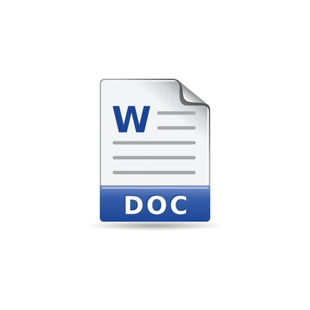 office presentation: Text file format icon in color. Office report presentation