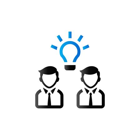 duo: Teamwork icon in duo tone color. Business collaboration team Illustration