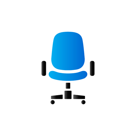 Office chair icon in duo tone color. Office supply furniture comfort