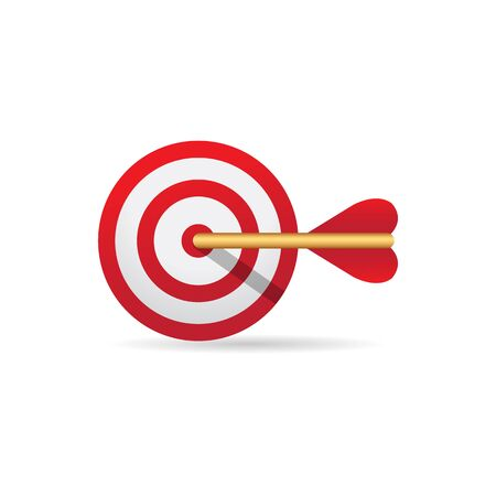 Arrow bullseye icon in color. Business sport strategy Illustration