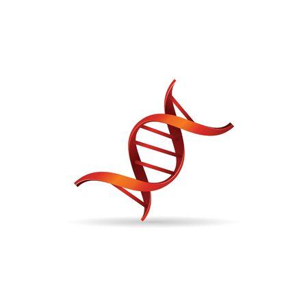 dna strands: DNA strands icon in color. Science biology chromosome