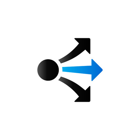 Propagate arrows icon in duo tone color. Business management