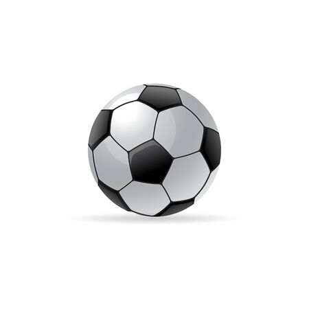 Soccer ball icon in color. sport competition team