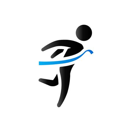 duo: Finish line icon in duo tone color. Sport marathon competition