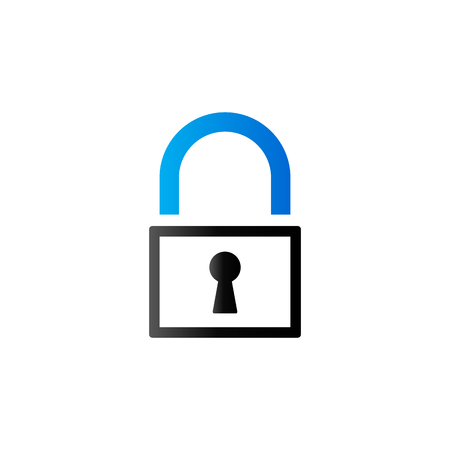 investment concept: Padlock icon in duo tone color. Finance safety protection