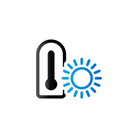 scale icon: Thermometer icon in duo tone color. nature temperature hot humid