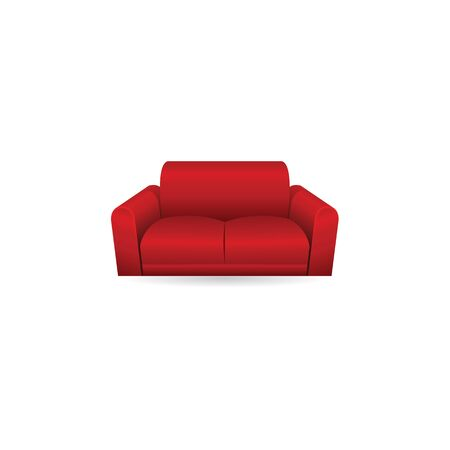 apartment: Couch icon in color. Interior chair cozy living room Illustration