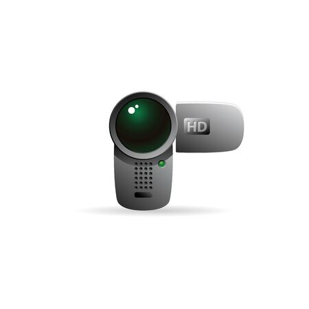 film industry: Camcorder icon in color. Videography movie recording Illustration