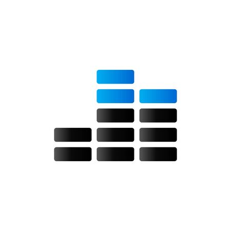 streaming: Audio symbol icon in duo tone color. Computer data music streaming