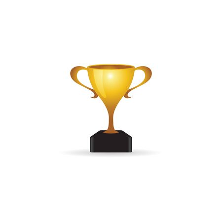 prize winner: Trophy icon in color. Winner champion prize