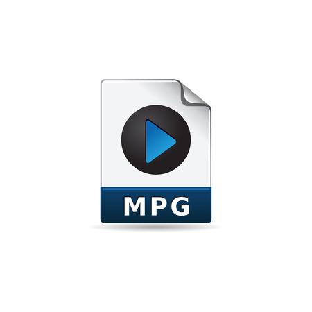 computer data: Video file format icon in color. Computer data movie