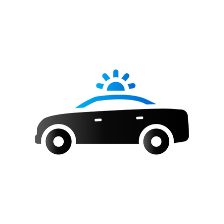 Safety car icon in duo tone color. Race rally control Illustration