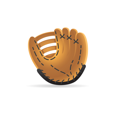 Baseball glove icon in color. Sport hand protection