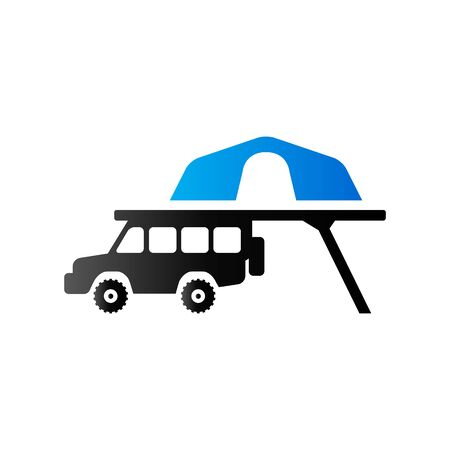 Portable camping tent icon in duo tone color. Shelter vacation travel Illustration