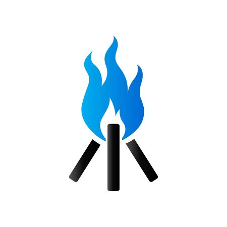 duo: Camp fire icon in duo tone color. Camping burn wild fire