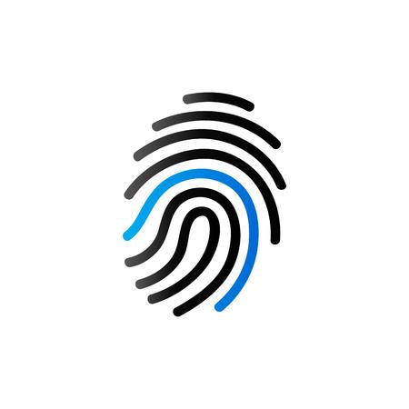 Icono De Huella Digital En Un Solo Color. Ciencia Seguridad Crimen ...