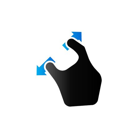 electronic: Finger gesture icon in duo tone color. Gadget touch pad smartphone laptop Illustration