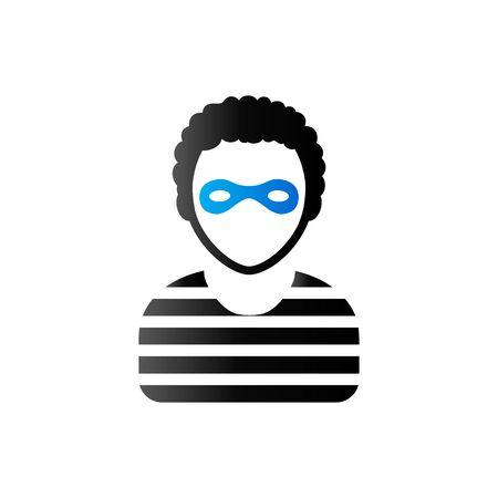 duo tone: Burglar icon in duo tone color. People person thief steal