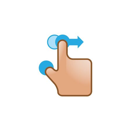 pad: Finger gesture icon in color. Gadget touch pad smartphone laptop Illustration