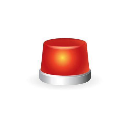 emergency medical: Siren icon in color. Emergency ambulance healthcare medical