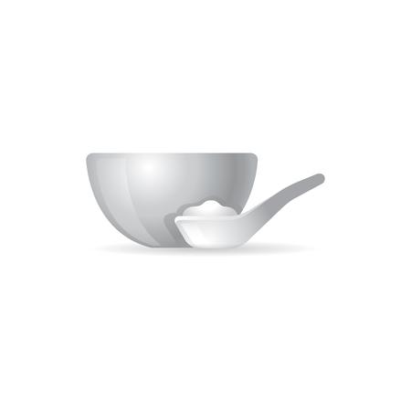 Porridge bowl icon in color. Çizim