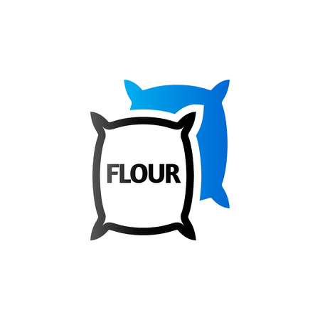 Flour sack icon in duo tone color. Agriculture burlap food wheat