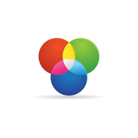 wavelength: Color wheels icon in color. Vector illustration.