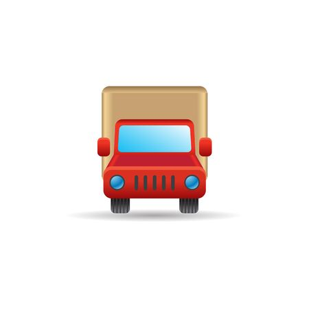 transport truck: Truck icon in color. Freight transport logistic Illustration